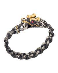 John Hardy | Metallic Batu Naga Gold & Silver Dragon Head Bracelet With Black Oxidation | Lyst