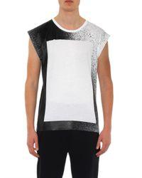 Balenciaga - White Spray-Print Cotton Tank Top for Men - Lyst