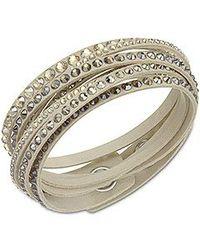 Swarovski - Metallic Slake Bracelet - Lyst