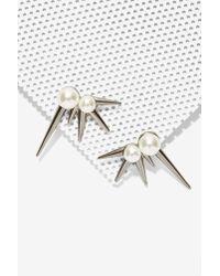 Nasty Gal - Metallic Striker Earrings - Lyst
