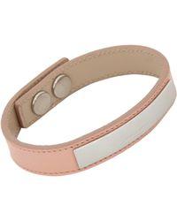 Saint Laurent | Pink Classique Gourmette Bracelet | Lyst