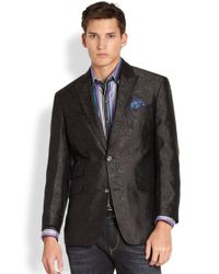 Robert Graham | Black Short Wave Silk Blazer for Men | Lyst