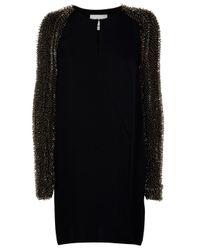 3.1 Phillip Lim | Black Twist V-Neck Dress | Lyst