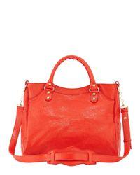 Balenciaga - Orange Giant 12 Velo Lambskin Tote Bag - Lyst
