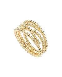 Lagos | Metallic Caviar Multi-row Ring | Lyst