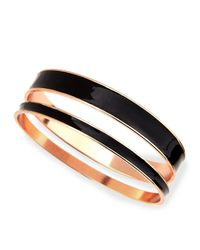 Tuleste | Black Two-piece Channel Bangle Set | Lyst