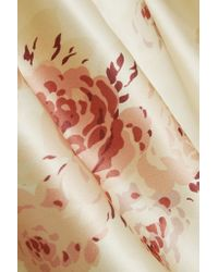 Vilshenko - Metallic Reda Floral-print Satin Skirt - Lyst