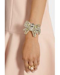 Miu Miu - Yellow Silver-Plated Swarovski Crystal Bracelet - Lyst