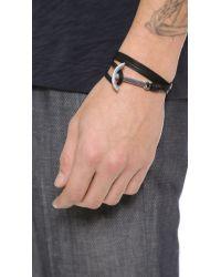 Miansai | Black Modern Anchor Wrap Bracelet for Men | Lyst