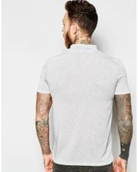 ASOS | Gray Slub Polo In Grey for Men | Lyst