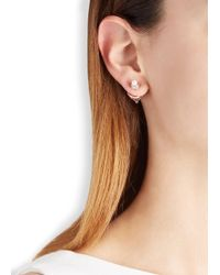 Eddie Borgo | Pink Pavé Rose Gold-plated Cone Earrings | Lyst
