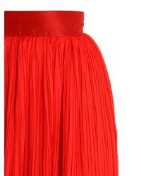 Michael Lo Sordo   Red Rose Plisse Maxi Skirt   Lyst