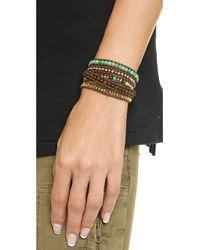 Chan Luu | Chrysoprase Beaded Wrap Bracelet  Chrysoprase Mixbrown | Lyst