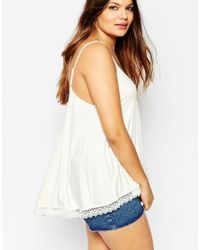 ASOS - Black Swing Cami With Lace Hem - Lyst