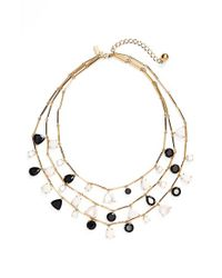 kate spade new york | Metallic 'twinkle Lights' Multistrand Necklace - Neutral Multi | Lyst