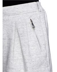 3.1 Phillip Lim - Gray Pleat Flare Sweat Shorts - Lyst