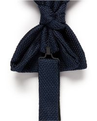 Lanvin - Green Eyelet Weave Silk Bow Tie for Men - Lyst