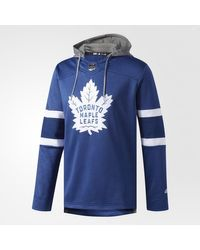 Adidas - Blue Maple Leafs Jersey Replica Pullover Hoodie for Men - Lyst