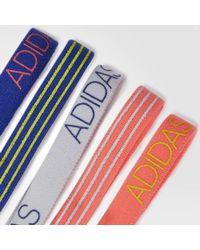 Adidas - Red Creator Headbands 5 Pack - Lyst