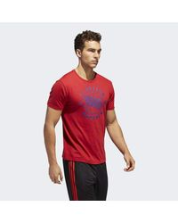 Adidas - Red Fc Bayern Linear Icon Tee for Men - Lyst