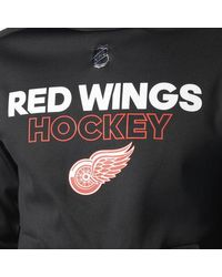 Adidas - Black Red Wings Authentic Pro Player Hoodie for Men - Lyst