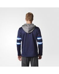 Adidas - Blue Jets Jersey Replica Pullover Hoodie for Men - Lyst