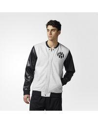 Adidas - Gray Harden Varsity Jacket for Men - Lyst