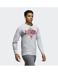 Adidas - Gray Scarlet Knights Lacrosse Tee for Men - Lyst