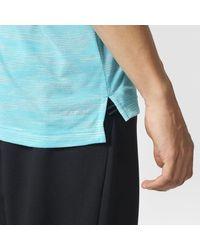 Adidas - Blue Climacool Aeroknit Tee for Men - Lyst