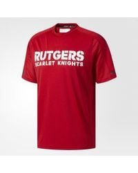 Adidas - Red Scarlet Knights Sideline Performance Tee for Men - Lyst