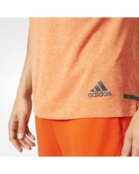 Adidas - Yellow Climachill Tee for Men - Lyst