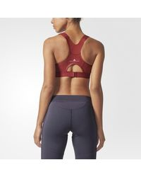 Adidas - Red The Committed Bra - Lyst