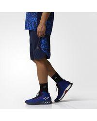 Adidas - Blue Essentials Print Shorts for Men - Lyst