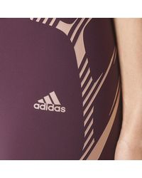 Adidas - Red Adizero Sprintweb Three-quarter Tights - Lyst