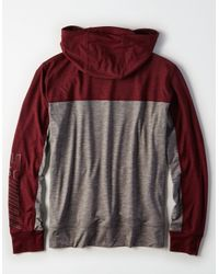American Eagle - Multicolor Ae Active Mock Neck Hoodie for Men - Lyst