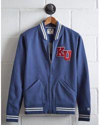 Tailgate Blue Men's Kansas Bomber Jacket for men