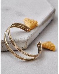 American Eagle - Metallic Gold Tassel Bracelet - Lyst