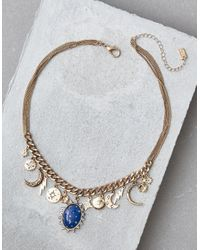 American Eagle - Metallic Blue Pendant Charm Necklace - Lyst