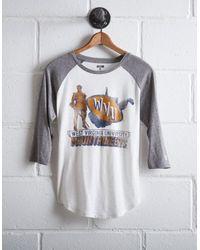 Tailgate White Women's Wvu Baseball Shirt