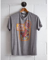 Tailgate Gray Men's Iowa State Cy T-shirt for men