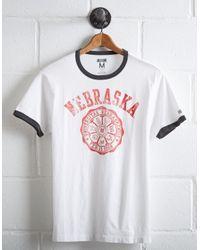 Tailgate White Men's Nebraska Cornhuskers Ringer T-shirt for men