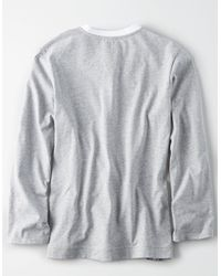 American Eagle - Gray Don't Ask Why Hockey Tee - Lyst