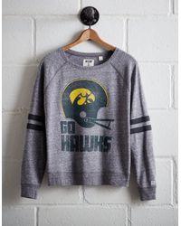 Tailgate Gray Women's Iowa Fleece Sweatshirt