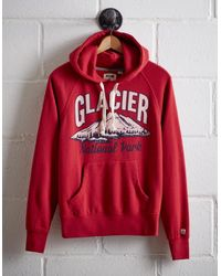 Tailgate Red Women's Glacier National Park Hoodie