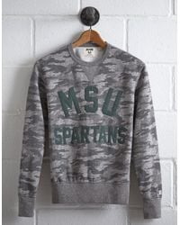 Tailgate Gray Men's Michigan State Camo Sweatshirt for men