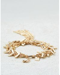 American Eagle - Metallic Chains Gold Bracelet - Lyst