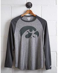 Tailgate Gray Men's Iowa Hawkeyes Baseball Shirt for men