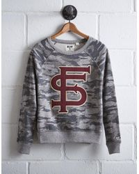 Tailgate Gray Women's Florida State Camo Sweatshirt