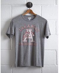 Tailgate Gray Men's Arkansas Razorbacks T-shirt for men