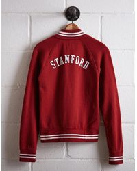 Tailgate Red Women's Stanford Bomber Jacket